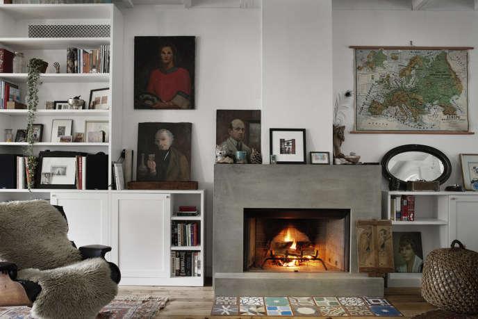 bangia agostinho carroll gardens fireplace