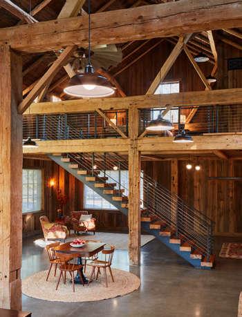 net zero barn interiors catherine truman architects